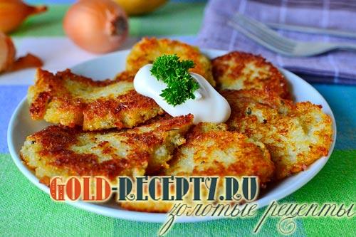 Рецепт: Драники (картофельные оладьи) - Готовим дома